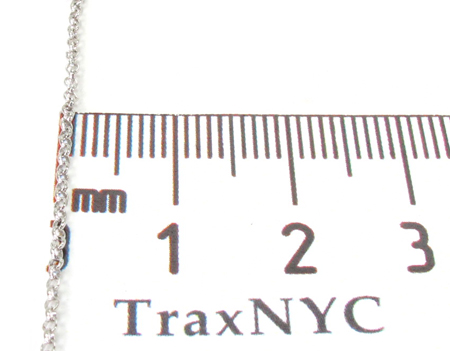 White Gold Thin Chain 18 Inches, 1mm, 1.8 Grams Gold