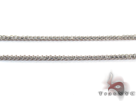 White Gold Thin n 20 Inches, 1mm, 3.7 Grams Gold