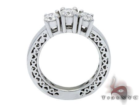 White Gold Three Stone Diamond Wedding Ring Wedding