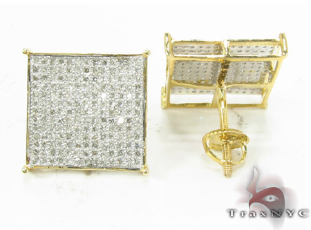 White Pave XL Earrings Stone