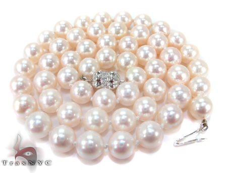 White Pearl Necklace 27181 Pearl