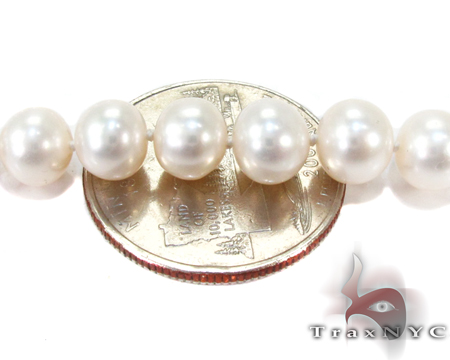 White Pearl Necklace 27184 Pearl