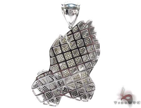 White Rhodium Silver Prayer Pendant Metal