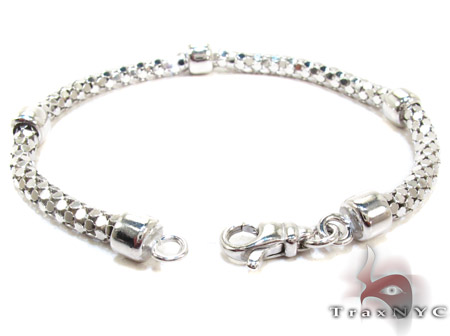 White Silver Bracelet Silver