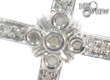 White Silver Diamond Cross 27441 Style