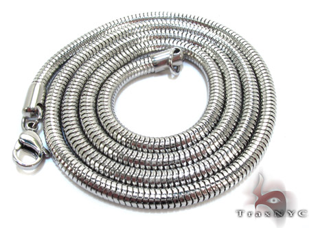 White Stainless Steel 24 Inches 3mm 13.1 Grams Stainless Steel