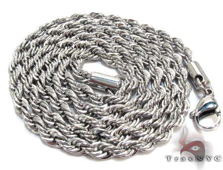 White Stainless Steel n 24 Inches 4mm 23.6 Grams Men Annual Blowout