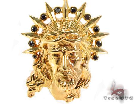Black Diamond XL Jesus Head Pendant Style