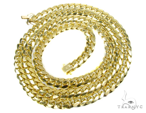 YG Miami Link Chain 36 Inches, 9mm, 218.5 Grams Gold