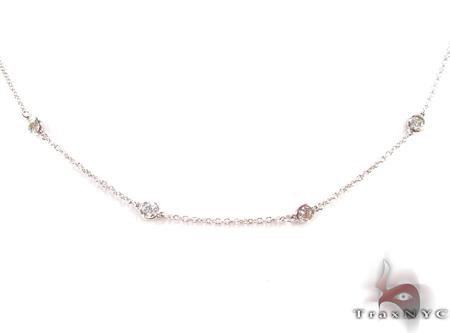 Yard Bezel Diamond Necklace Diamond