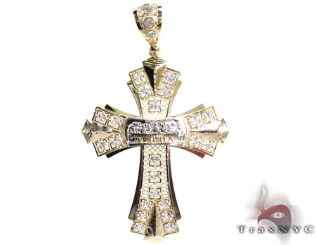 Yellow 10k gold cz jesus cross pendant 25313 mens gold yellow gold yellow 10k gold cz jesus cross pendant 25313 mozeypictures Image collections
