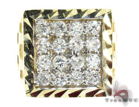 Yellow 10K Gold CZ Ring 25251 Metal