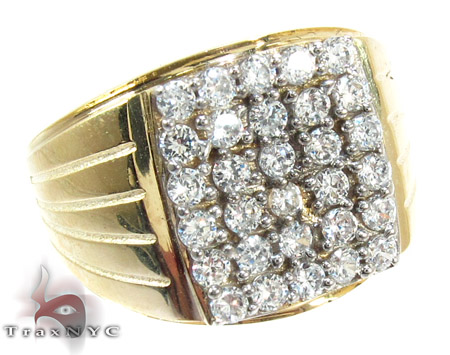Yellow 10K Gold CZ Ring 25254 Metal