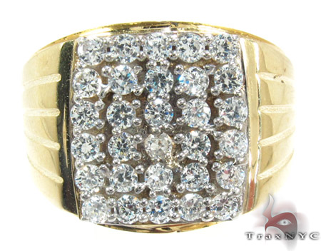 Yellow 10K Gold CZ Ring 25254 Metal