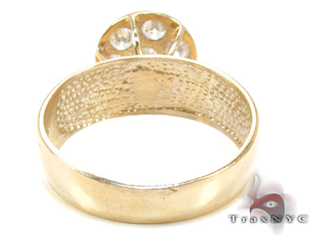 Yellow 10K Gold CZ Ring 25261 Anniversary/Fashion