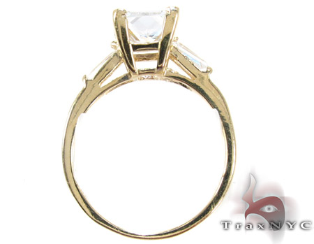 Yellow 10K Gold CZ Ring 25264 Anniversary/Fashion