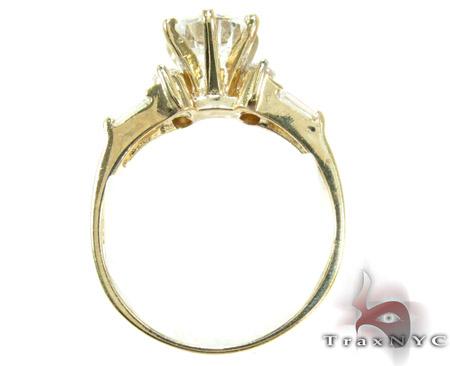Yellow 10K Gold CZ Ring 25268 Anniversary/Fashion