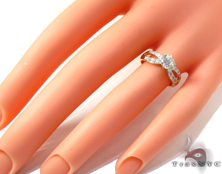 Yellow 10K Gold CZ Ring 25271 Anniversary/Fashion