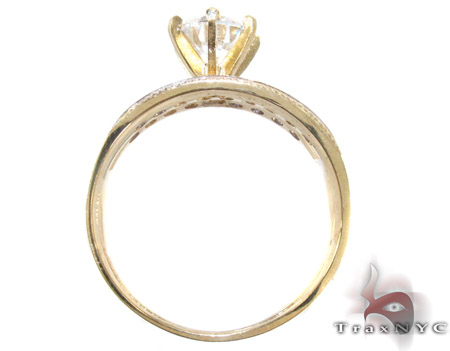 10K Gold His & Her CZ Ring Set 25278 Engagement