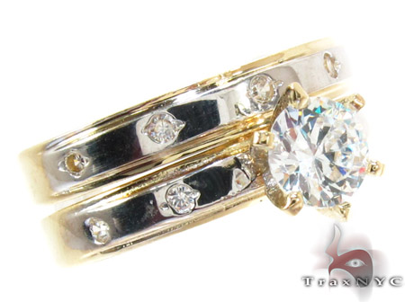 10K Gold His & Her CZ Ring Set 25281 Engagement