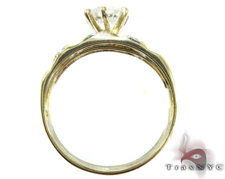 10K Gold His & Her CZ Ring Set 25283 Engagement