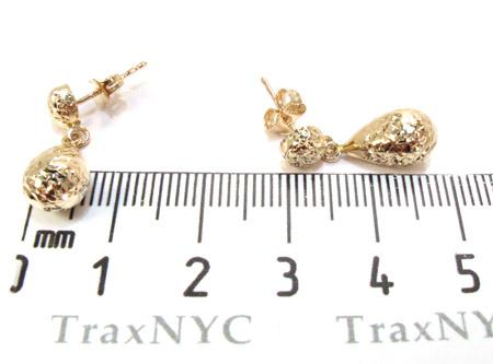 Yellow 14K Gold Chandelier Earrings Metal