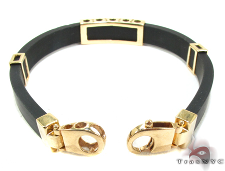 Yellow Gold & Rubber Bracelet XL 3 Gold