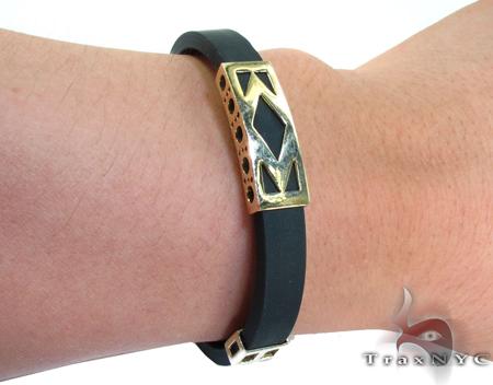 Yellow Gold & Rubber Bracelet XL 3 Gold