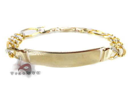 Yellow Gold Bracelet Plate 4 Gold