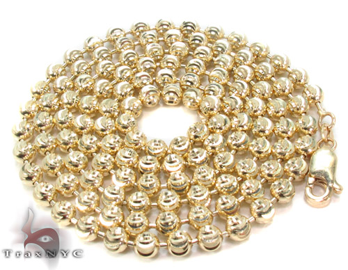 Yellow Gold Disco Ball Chain 26 Inches 4mm 27.8 Grams Gold