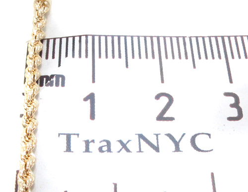 Yellow Gold Rope Chain 20 Inches 2mm 2.9 Grams Gold