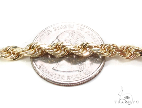 Yellow Gold Rope Chain 30 Inches 4mm 50.1 Grams Gold