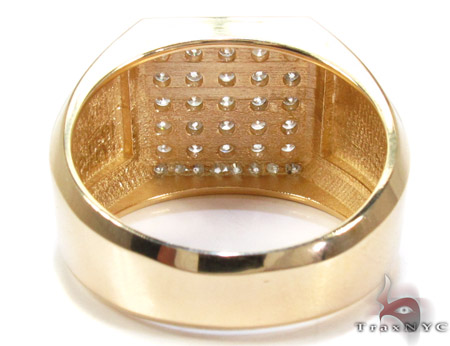 Yellow Gold Mens Jewelry Ring Stone