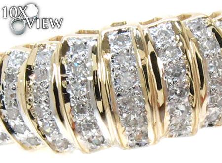 Yellow Gold Round Cut Micro Pave Diamond Ring Anniversary/Fashion