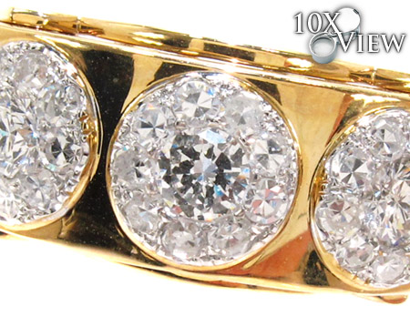 Yellow Gold Round Cut Prong Diamond Ring Stone