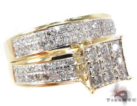Square Diamond Engagement Ring Set Engagement