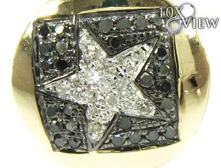 Yellow Gold Round Cut Prong Diamond Star Earrings 25233 Stone