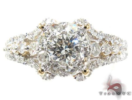 Yellow Gold Round Cut Prong Diamond Wedding Ring Engagement