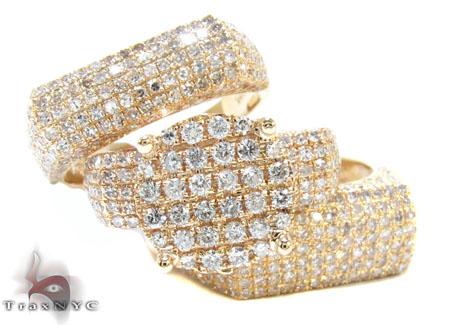 Yellow Gold Round Cut Prong Diamond Wedding Ring Set Engagement