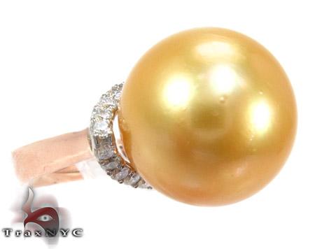 Yellow Pearl Diamond Ring 真珠 ダイヤモンド リング