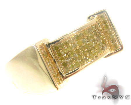 Yellow Silver Diamond Ring 27431 Metal