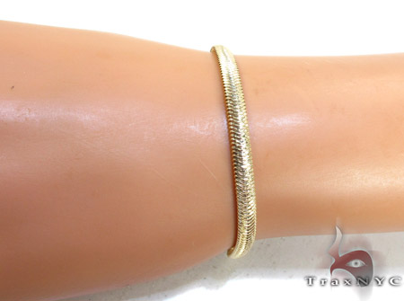 Yellow Silver Snake Bracelet Silver & Stainless Steel