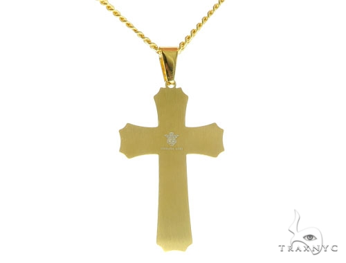 Yellow Stainless Steel Cross Set 45605 Stainless Steel