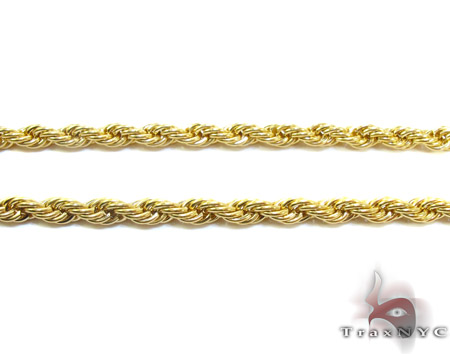 Yellow Stainless Steel Rope Chain 24 Inches, 4mm, 23.30 Grams Stainless Steel