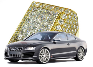 Audi S5 TraxNYC Touring Edition Mens Diamond Rings