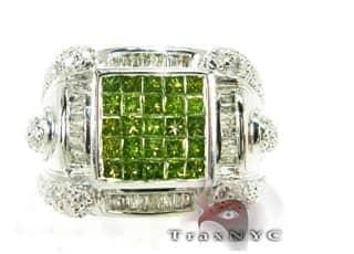 Green King Ring Mens Diamond Rings