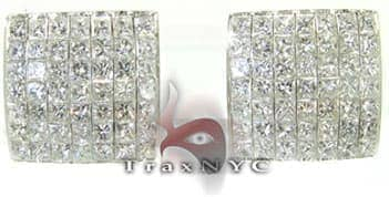 Invisible Frame Earrings Diamond Earrings For Women