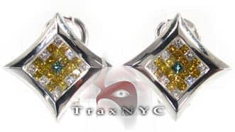 Ninja Star Earrings Mens Diamond Earrings