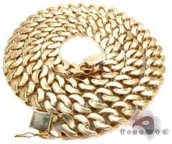 Yellow Gold Miami Link Chain