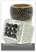 Mens Black Diamond Rings